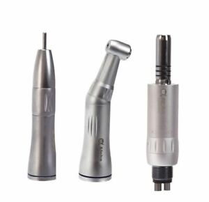 W h Dental Low Speed Handpiece Inner Straight Contra Angle Air Motor 4holes
