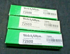 Welch Allyn 72600 2 5v Rechargeable Battery blue Boxed Lot Of 3 New