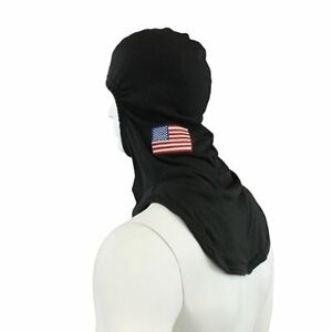 100 Nomex Smooth Fire Hood With Embroidered Flag Majesticp84 Firefighting Hood