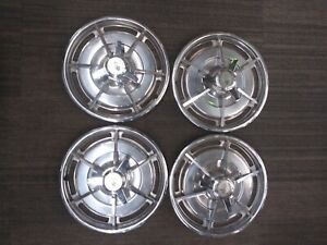 1963 Split Window Corvette Hubcaps Hub Caps Nice
