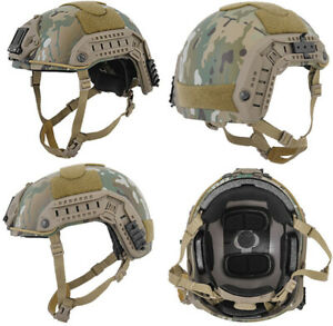 ATH Maritime FAST Tactical Advanced Helmet ML + Accessories Modern Land Camo