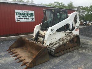 2008 Bobcat T320 Compact Track Skid Steer Loader W Cab Joystick Only 3200 Hrs