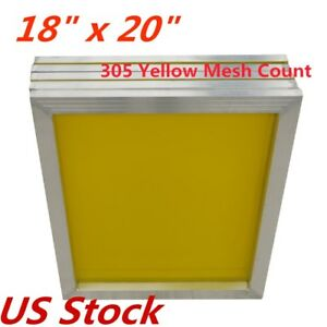 6pcs 18 X 20 Aluminum Silk Screen Printing Frame With 305 Mesh Count Us Stock