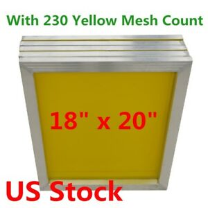6pcs 18 X 20 Aluminum Silk Screen Printing Frame With 230 Mesh Count Usa