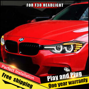 For Bmw 3 Series F30 Headlights Assembly Bi Xenon Lens Double Beam Hid Kit12 16