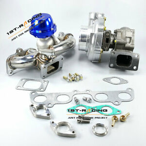 Gt35 3 Turbo T3 Flange Manifold F38 Wastegate For Toyota 4runner Tacoma 2 7l