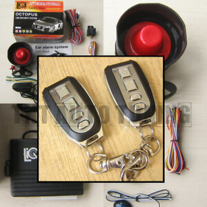 Car Alarm Anti theft System Remote Central Locking Kit Shock Sensor Immobiliser