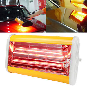 1kw Portable Spray Baking Booth Infrared Paint Curing Lamp Heating Light Heater