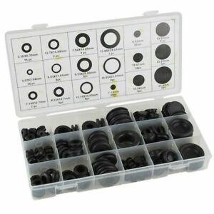 125 Pc Rubber Grommet Firewall Wire Gasket Solid Hole Plug Assortment Set