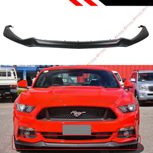 For 2015 17 Mustang Gt Performance Style Front Bumper Lip Chin Spoiler Splitter