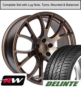 22 Inch Chrysler 300 Hellcat Oe Replica Staggered Wheels Tires Tpms Copper Rims