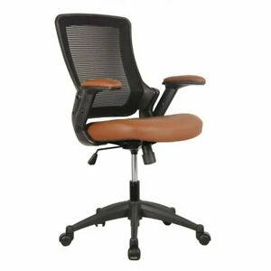Techni Mobili Mid back Mesh Task Office Chair With Height Adjustable Arms