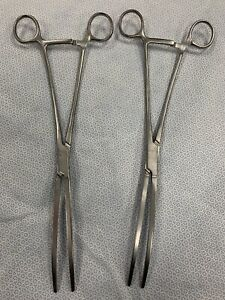 V Mueller Fitzgerald Aortic Aneurysm Clamps Ch 6270 Lot Of 2