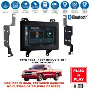Plug In 7 Double Din Usb Bluetooth Car Stereo Radio For Chevy S 10gmc Sonoma Fits Gmc Sonoma