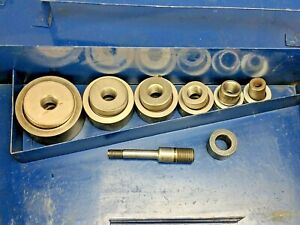 Current Tools 1 2 2 161ss Hydraulic Knockout Set