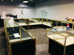 16 Glass Showcases Deal Jewelry Fixtures Whole Store Wall Cases Counter Displays