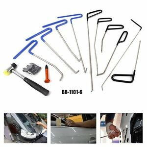 10pcs Paintless Tools Push Rods Car Body Dent Repair Hail Removal Tap Down Us