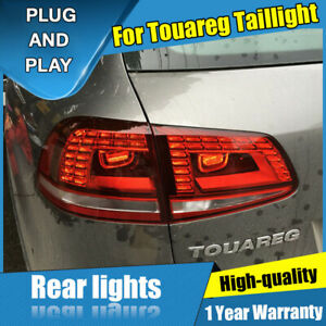 For Volkswagen Touareg Red Led Rear Lamps Assembly Led Tail Lights 2011 2013