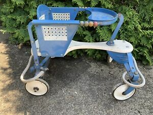 Vintage Metal Baby Stroller Walker 50s60s Chassis Handle Fender Parts Taylor Tot