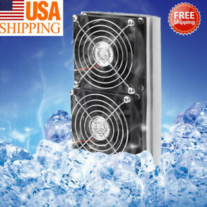 Double Fans Thermoelectric Peltier Refrigeration Cooling System Cooler Kit