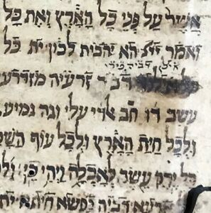 1575 Aramaic Bible Leaf Manuscript The Language Jesus Spoke Gen 1 28 3 4