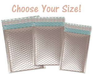 5x9 6x10 8x12 Nude Pink Metallic Bubble Mailers 6x10 Rose Gold Envelopes New