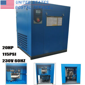Hpdmc 20hp 115psi Rotary Screw Air Compressor 81cfm 230v 60hz 3 phase Industry