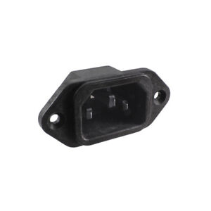 Iec C14 3 pin Male Panel Mount Power Connector 10a