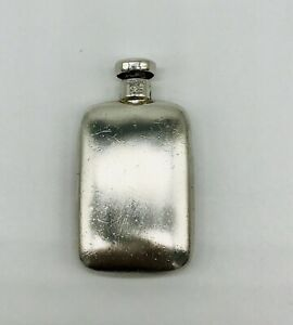 Tiffany Co Signed Sterling Silver Perfume Lid Bottle Flask