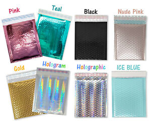 8 5x12 Metallic Bubble Mailers Glamour Padded Quality Shipping 8x12 Envelopes