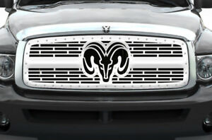 Custom Steel Grille For Dodge Ram 2002 05 1500 2500 3500 Truck Ram Head Ss Grill