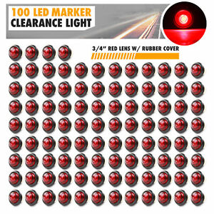 100 Pack Kaper Ii 0 75 Led Round Bullet Trailer Side Marker Clearance Light Rv
