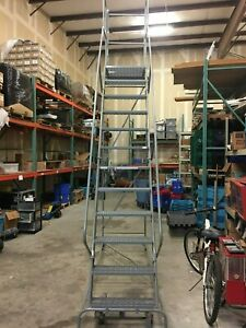 12 Step Rolling Ladder