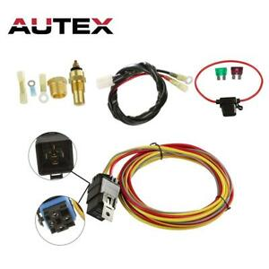 Dual Electric Cooling Fan Wiring Install Kit 165 To 185 Thermostat 50 Amp Relay