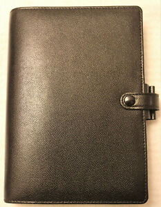 Vintage Filofax Personal Piccadilly Planner Black New In Original Box