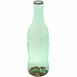 Plastic Coca Cola Bottle Giant Tall Coin Storage Piggy Bank Money Safe 22