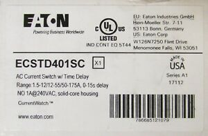 Eaton Ecstd401sc Ac Current Switch Time Delay 0 15 Second Delay Current Sensor