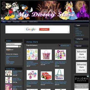Disney Store Make Money With Your Own E commerce Website Free Domain hosting