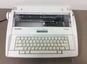Vintage Brother Ml300 Typewriter Daisy Wheel Electronic Display Working 597s