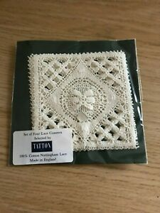 Nottingham Lace Set Of 4 Coasters In Original Packaging