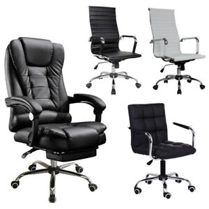 High Back Pu Leather Office Chair Executive Task Ergonomic Computer Desk Chair