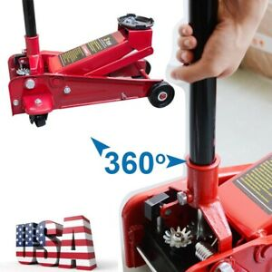 3ton Heavy Duty Steel Ultra Low Profile Floor Jack Rapid Pump Show Car Device Ce
