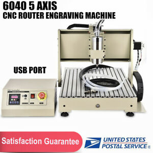 6040 5 Axis Cnc Router Engraver Engraving Machine 1500w Metal Carving Ball Screw