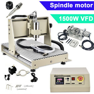 5 Axis Engraver Cnc 6040 Router Engraving Machine Ball Screws Usb 1500w Vfd Usa