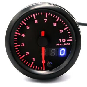 12v Car Race Electrical Digital Tachometer 7color Led Backlight Meter 0 1000rpm