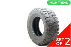 Set Of 2 Used Lt 33x12 5r17 Nitto Extreme Terrain Mud Grappler 120q 9 5 32