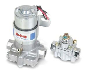 Holley 712 802 1 Marine 110gph Electric Fuel Pump Blue With Regulator