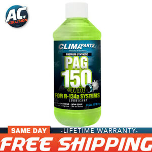 Premium Synthetic Ac Refrigerant Oil Pag 150uv Vis 8oz For R134a Systems