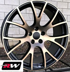 22 Inch Chrysler 300 Oe Replica Staggered Wheels Srt Hellcat Black Bronze Rims