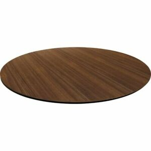 Lorell Laminate Knife edge Round Conference Table Top 42 w Walnut